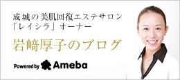 成城の大人のためのエステサロン「レイシラ」オーナー 岩﨑厚子のブログへ